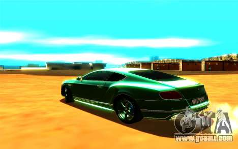 Bentley Continental GT for GTA San Andreas left view