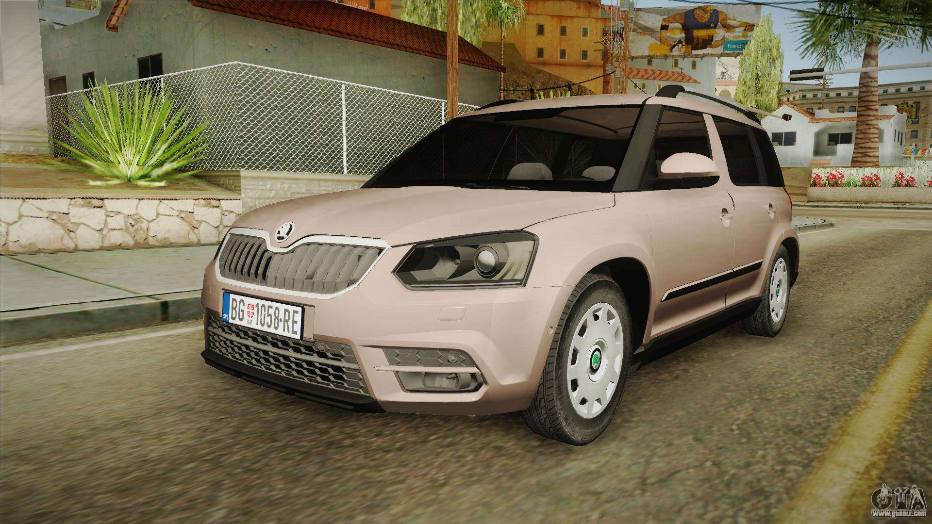 skoda yeti 2016 for gta san andreas. Black Bedroom Furniture Sets. Home Design Ideas