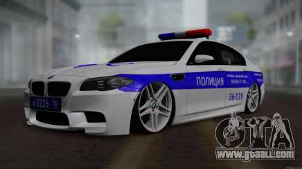BMW M5 F10 Police for GTA San Andreas