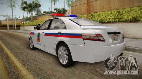 Toyota Camry Turkish Gendarmerie Traffic Unit for GTA San Andreas left view