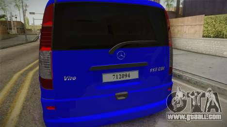 Mercedes-Benz Vito Turkish Gendarmerie for GTA San Andreas side view