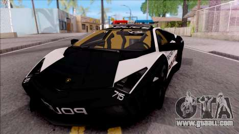 Lamborghini Reventon High Speed Police for GTA San Andreas
