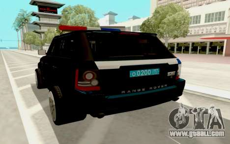 Range Rover Sport Police for GTA San Andreas right view