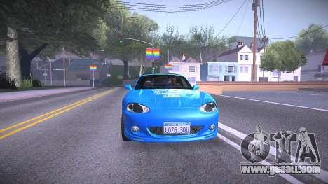 Mazda MX-5 Miata for GTA San Andreas back left view