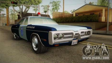 Plymouth Fury 1972 Massachusetts State Police for GTA San Andreas