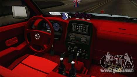 Nissan Ddsen 2016 for GTA San Andreas inner view