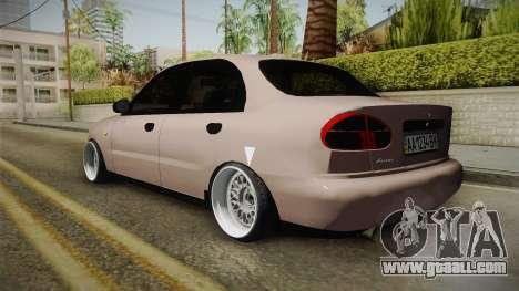 Daewoo Lanos Sedan 2001 for GTA San Andreas left view