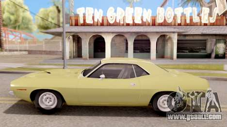 Plymouth Hemi Cuda 440 1970 for GTA San Andreas left view