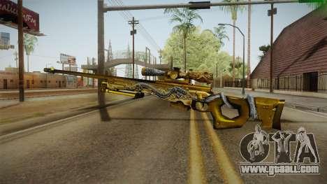 Cross Fire - AWM Infernal Oragon Noble Gold for GTA San Andreas third screenshot