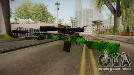 Green Sniper Rifle for GTA San Andreas second screenshot