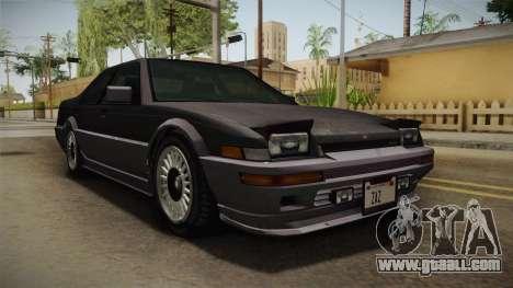 GTA 4 Dinka Hakumai Tuned Bumpers for GTA San Andreas right view