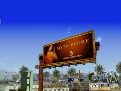 GTA V Billboards v2 for GTA San Andreas forth screenshot