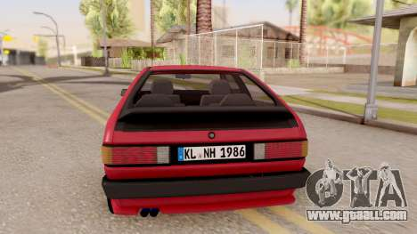 Volkswagen Scirocco Mk2 Stock for GTA San Andreas back left view