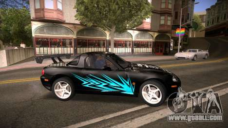 Mazda MX-5 Miata for GTA San Andreas wheels