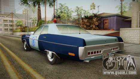 Plymouth Fury 1972 Massachusetts State Police for GTA San Andreas left view