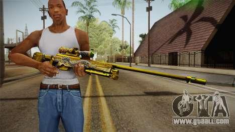 Cross Fire - AWM Infernal Oragon Noble Gold for GTA San Andreas