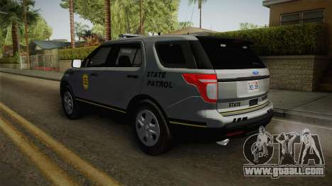Ford Explorer 2014 Iowa State Patrol for GTA San Andreas back left view