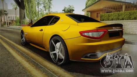 Maserati GranTurismo Sport v2 for GTA San Andreas left view