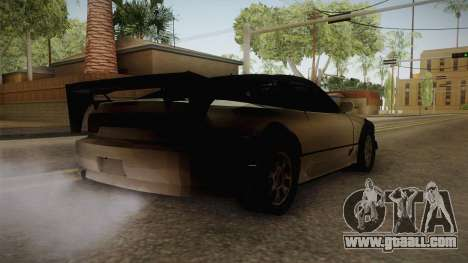 Nissan 240SX Lowpoly for GTA San Andreas back left view