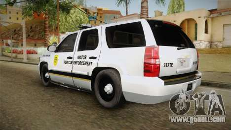 Chevrolet Tahoe 2015 Iowa State MVE for GTA San Andreas left view