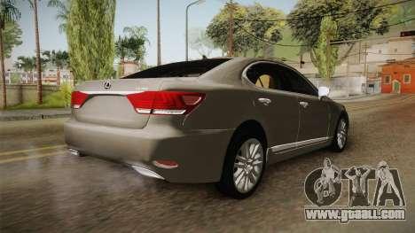 Lexus LS 460 Interior for GTA San Andreas back left view