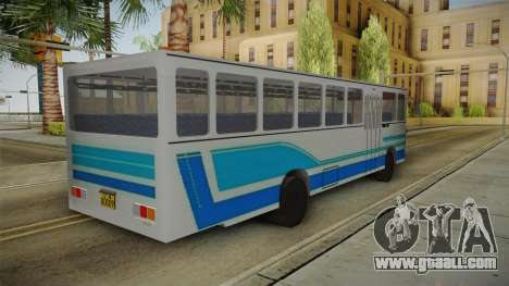 Huanghai DD6111CT Suburban Bus Blue for GTA San Andreas left view
