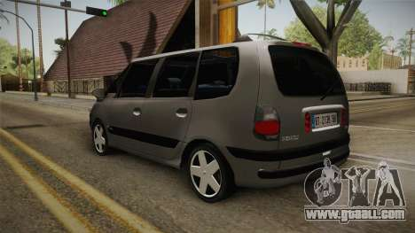 Renault Espace 1999 2.0 16v for GTA San Andreas back left view