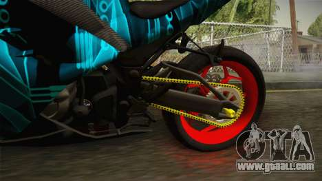 Kawasaki Ninja 250 FI Smoke Tech for GTA San Andreas inner view