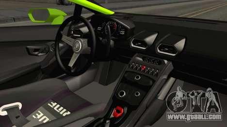 Lamborghini Huracan Rocket Bunny 2014 for GTA San Andreas inner view