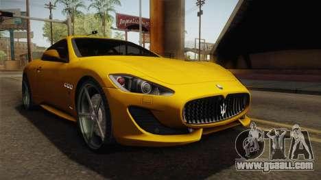 Maserati GranTurismo Sport v2 for GTA San Andreas right view
