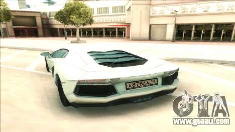 Lamborgini Aventador for GTA San Andreas right view