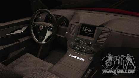 Cadillac Escalade 2016 for GTA San Andreas inner view