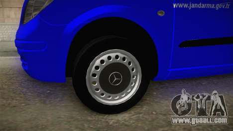 Mercedes-Benz Vito Turkish Gendarmerie for GTA San Andreas back view