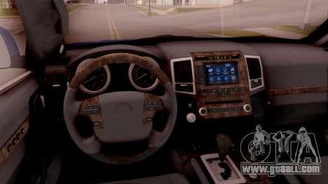 Lexus GX460 for GTA San Andreas inner view