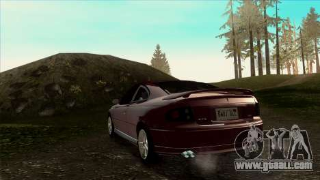 2005 Pontiac GTO IVF v 1.1 [Tunable] for GTA San Andreas back left view