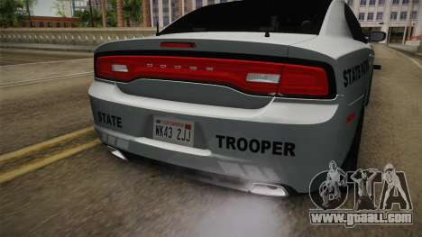 Dodge Charger 2014 Iowa State Patrol for GTA San Andreas back view