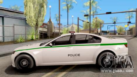 GTA V Cheval Fugitive Police Czech Old Style for GTA San Andreas left view