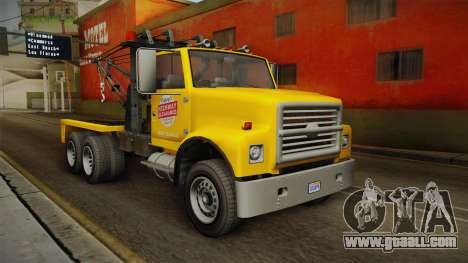 GTA 5 Vapid Towtruck Large Cleaner IVF for GTA San Andreas