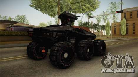 Goliath UGV for GTA San Andreas back left view
