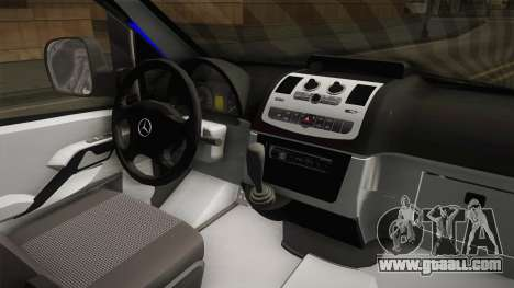 Mercedes-Benz Vito Turkish Gendarmerie for GTA San Andreas inner view