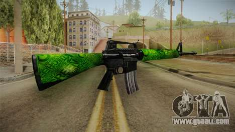 Green M4 for GTA San Andreas second screenshot
