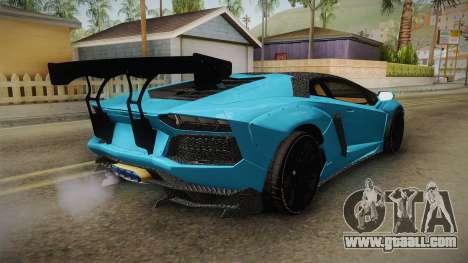 Lamborghini Aventador LP700-4 LB Walk v2 for GTA San Andreas back left view