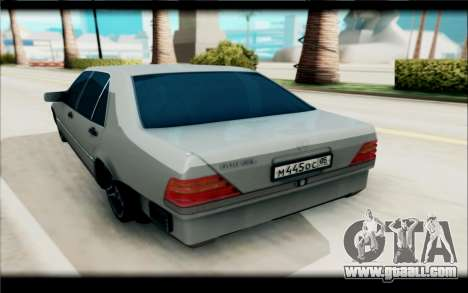 Mercedes-Benz 600SEL for GTA San Andreas back view