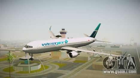 Boeing 767-338ER WestJet Airlines for GTA San Andreas