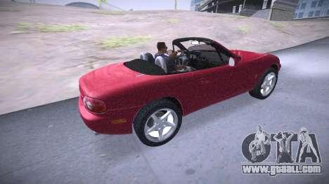 Mazda MX-5 Miata for GTA San Andreas back view