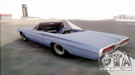 Ford Thunderbird for GTA San Andreas back left view