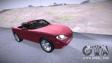 Mazda MX-5 Miata for GTA San Andreas right view