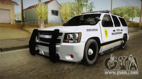 Chevrolet Tahoe 2015 Iowa State MVE for GTA San Andreas back left view