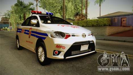 Toyota Vios 2014 Philippine National Police for GTA San Andreas