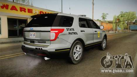Ford Explorer 2014 Iowa State Patrol for GTA San Andreas left view